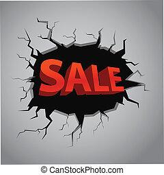 compras, especial, oferta, plantilla