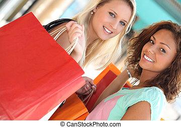 compras, frenesí, niñas
