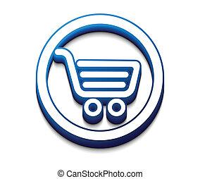 compras, iconos de la tela