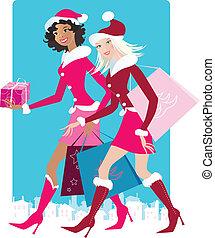 compras, navidad