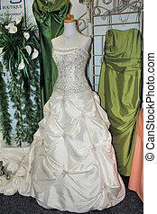 compras, para, vestido de la boda
