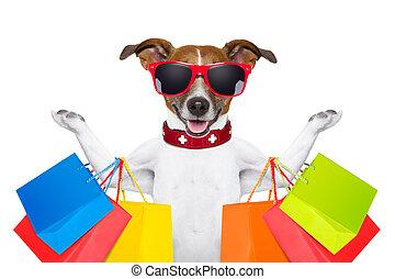 compras, perro