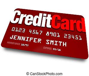 compras, plástico, credito, carga, deuda, tarjeta