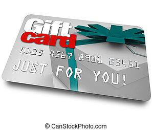 compras, regalo, plástico, credito, carga, mercancía,...