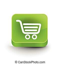compras, tela, icono