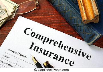 comprehensive, biztosítás, forma