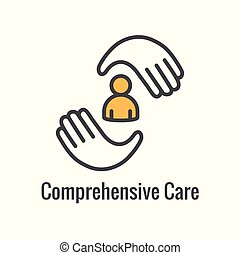 Comprehensive Care Icon with health related symbolism and image