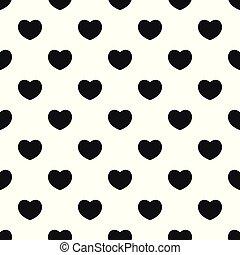 comprensivo, patrón del corazón, seamless, vector