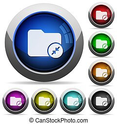 Compress directory round glossy buttons
