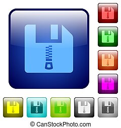 Compressed file color square buttons