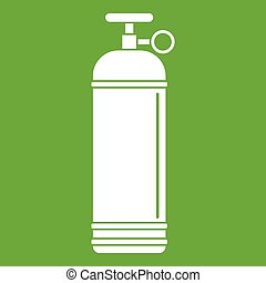 Compressed gas container icon green