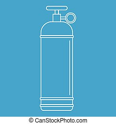 Compressed gas container icon outline