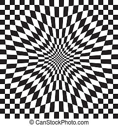 Compressed Optical Check - Compressed checkerboard pattern...