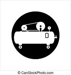 compresseur, air, icône