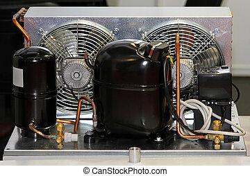 compresseur, réfrigérateur, unité