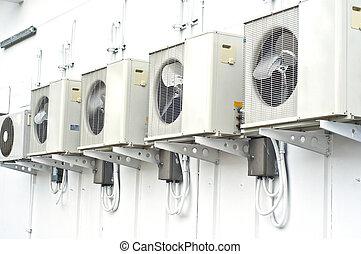 compressor., kondycjonując, powietrze
