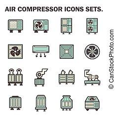 compressore, aria, icone