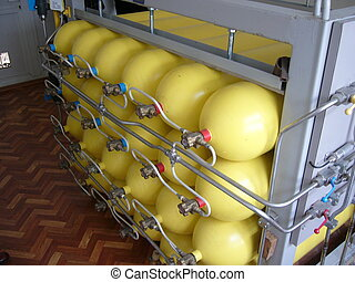 comprimido, gás natural, cilindros