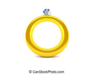 compromiso, bajo, anillo, ángulo