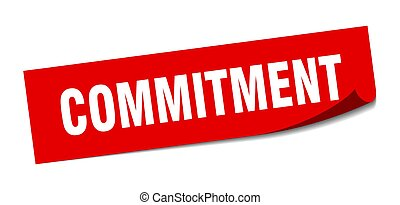compromisso, peeler, sinal., sticker., quadrado, commitment.