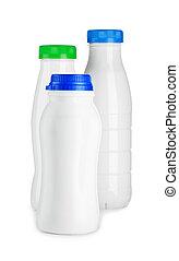 compsition of three bottle