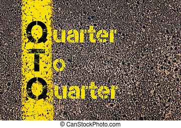 comptabilité, acronyme, qtq, trimestre, business