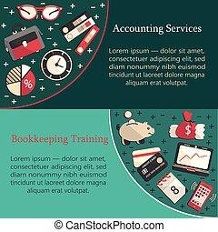 comptabilité, carte, templat