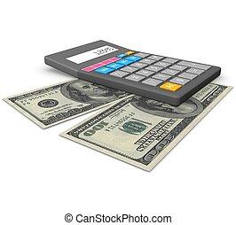comptabilité, concept, 3d