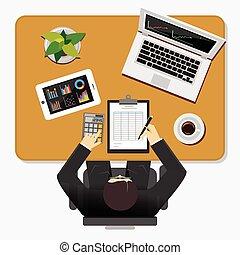 comptabilité, concept., business