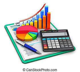 comptabilité, concept, finance