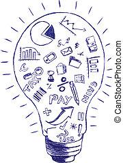 comptabilité, &, finance, symbole