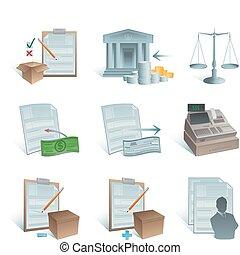 comptabilité, icônes