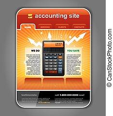 comptabilité, toile,  site,  finance