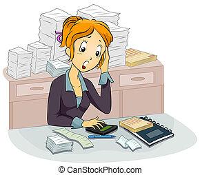 comptable, femme