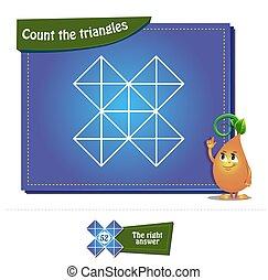 compte, 33, brainteaser, triangles
