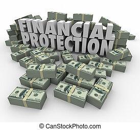 compte, financier, assurer, argent, sûr, savin, protection, investissement