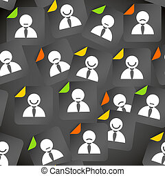 compte, foule, média, résumé, seamless, fond, social, avatars.