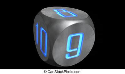 compte rebours, cube