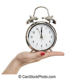 compte rebours, les, temps, est, courant, dehors, nouvel an