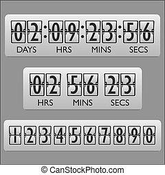 compte rebours, minuteur, horloge