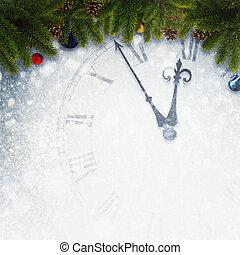 Compte rebours, résumé, Arrière-plans, Fetes, année, conception, nouveau, ton