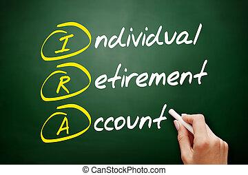 compte, retraite, acronyme, -, individu, ira