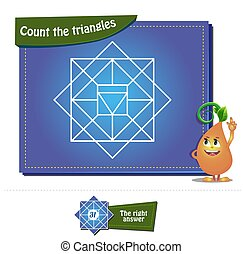compte, triangles, 29, brainteaser