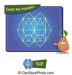 compte, triangles, 31, brainteaser