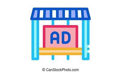 compteur, icône, publicité, magasin, animation
