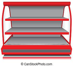 compteur, magasin, réfrigérateur