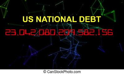 compteur, national, vivant, dette, horloge, nous