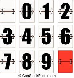 compteur, nombre, horloge