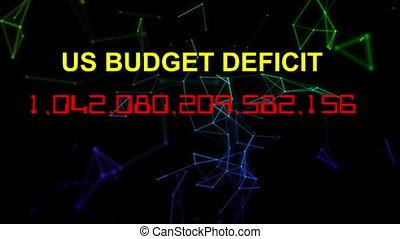 compteur, nous, déficit, horloge, vivant, budget