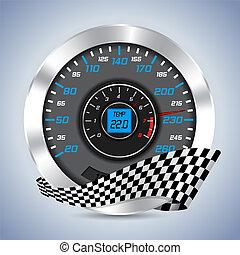 compteur vitesse, compteur, rev